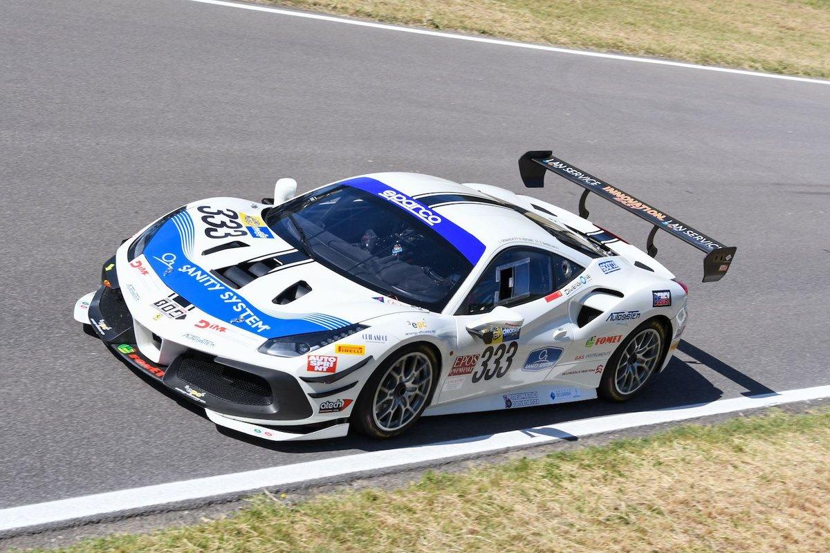 #333 SR&R, Ferrari 488 Challenge Evo: Luca Demarchi, Nicholas Risitano, Edoardo Barbolini