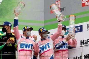 Podium: third place #7 Mercedes-AMG Team GetSpeed Mercedes-AMG GT3: Maximilian Götz, Daniel Juncadella, Raffaele Marciello