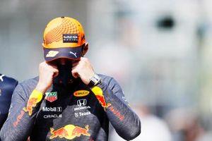 Pole man Max Verstappen, Red Bull Racing, celebrates