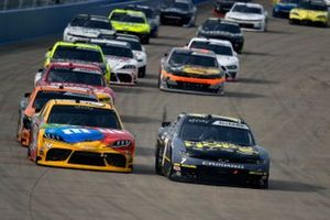 Justin Allgaier, JR Motorsports, Chevrolet Camaro Unilever Dollar General LF and Kyle Busch, Joe Gibbs Racing, Toyota Supra M&M's