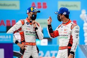 Rene Rast, Audi Sport ABT Schaefflera, 2nd position, nd Lucas Di Grassi, Audi Sport ABT Schaeffler, 1st position, in Parc Ferme