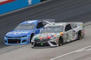 Kyle Busch, Joe Gibbs Racing, Toyota Camry Skittles Zombie Ricky Stenhouse Jr., JTG Daugherty Racing, Chevrolet Camaro Kroger