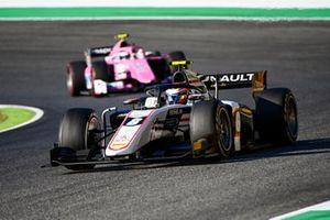 Christian Lundgaard, ART Grand Prix, leads Giuliano Alesi, BWT HWA Racelab