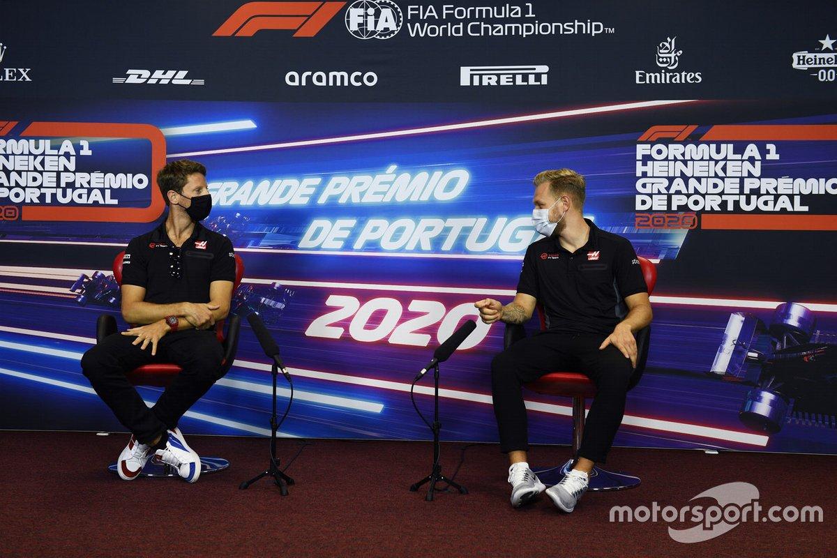 Kevin Magnussen, Haas F1 etRomain Grosjean, Haas F1