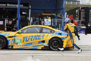 #96 Turner Motorsport BMW M6 GT3, GTD: Robby Foley sprints around the car
