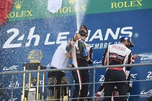 Race winners #8 Toyota Gazoo Racing Toyota TS050: Sebastien Buemi, Kazuki Nakajima, Brendon Hartley