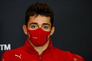 Charles Leclerc, Ferrari, in a Press Conference