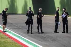 Nicholas Latifi, Williams Racing, on the track with team mates