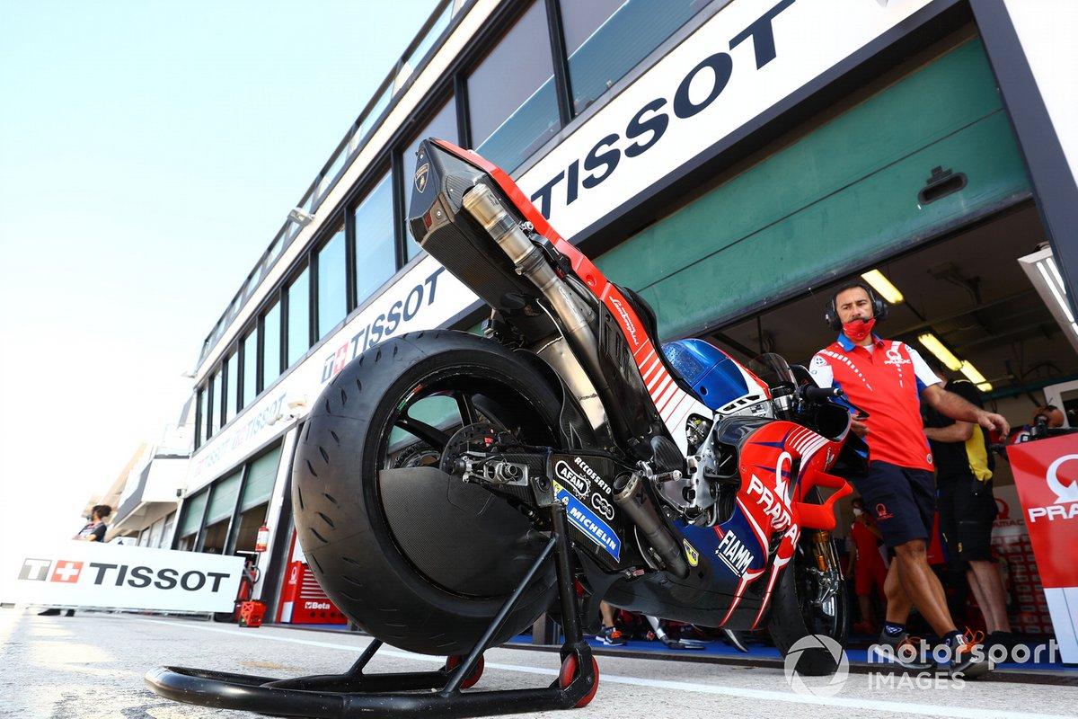 La moto de Francesco Bagnaia, Pramac Racing Ducati