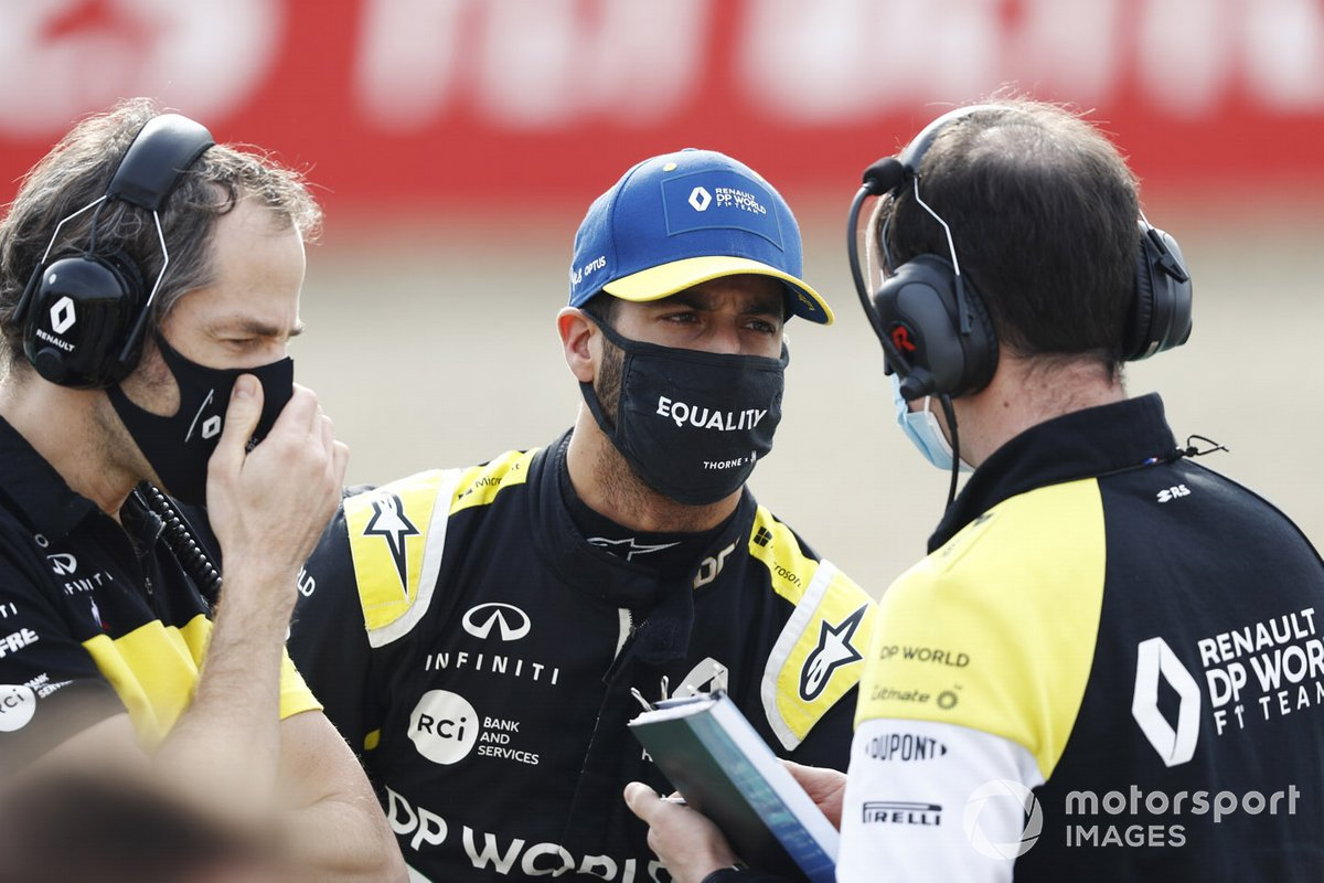 Daniel Ricciardo, Renault F1, sulla griglia