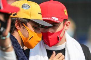 Carlos Sainz Jr., McLaren and Charles Leclerc, Ferrari