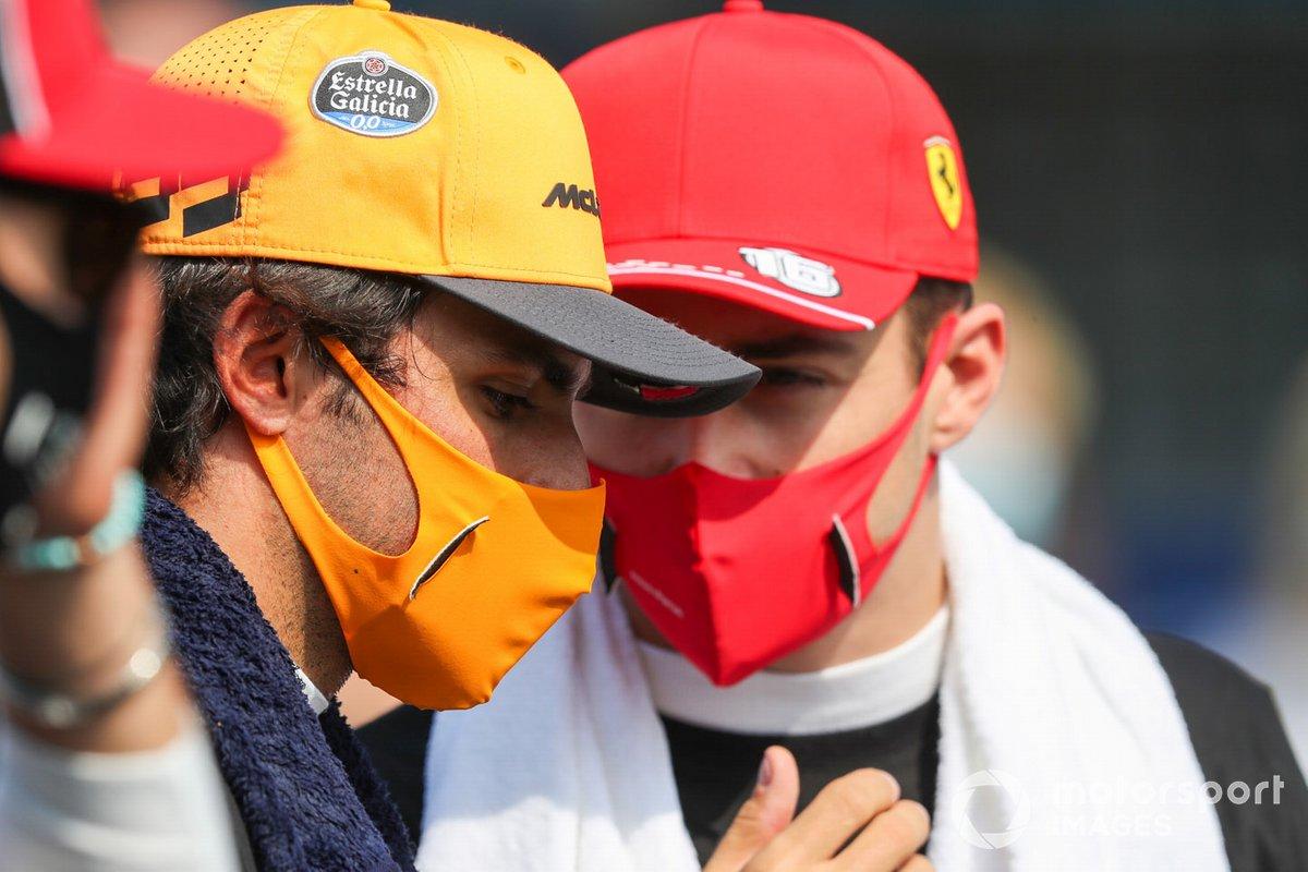 Карлос Сайнс, McLaren, Шарль Леклер, Ferrari