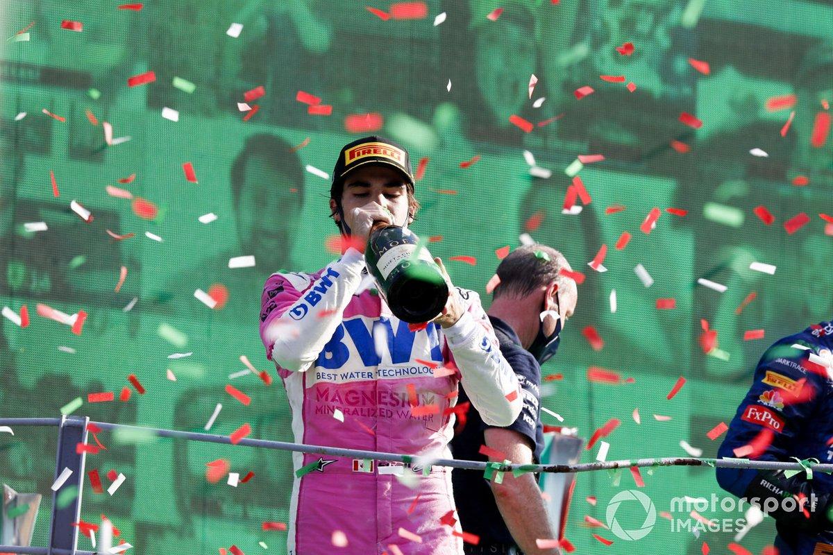 Podio: tercer lugar Lance Stroll, Racing Point