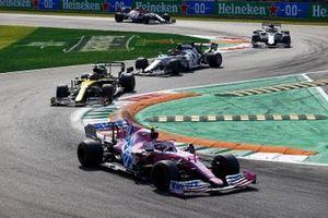 Lance Stroll, Racing Point RP20, Esteban Ocon, Renault F1 Team R.S.20, and Pierre Gasly, AlphaTauri AT01