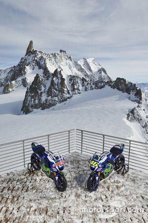 The 2016 Yamaha YZR-M1s of Jorge Lorenzo and Valentino Rossi, Yamaha Factory Racing