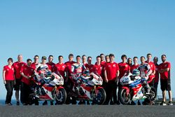 Nicky Hayden, Honda WSBK Team; Michael van der Mark, Honda WSBK Team; P.J. Jacobsen, Honda WSS Team