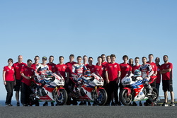 Nicky Hayden, Honda WSBK Team, Michael van der Mark, Honda WSBK Team, P.J. Jacobsen, Honda WSS Team