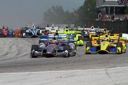 Départ : Will Power, Team Penske Chevrolet, en tête