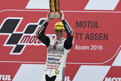Podium: winner Francesco Bagnaia, Aspar Team Mahindra