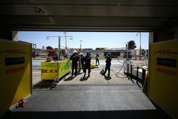 Le garage de l'équipe ARC Bratislava