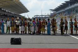 Les cérémonies d'avant-course