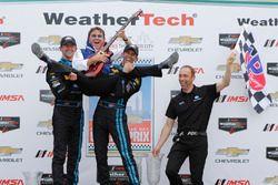 Winners #10 Wayne Taylor Racing Corvette DP: Ricky Taylor, Jordan Taylor with father Wayne Taylor