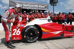 Pole pozisyonu sahibi Carlos Munoz, Andretti Autosport Honda
