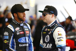 Brennan Poole, Chip Ganassi Racing Chevrolet, Darrell Wallace Jr., Roush Fenway Racing Ford