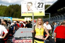 Grid girl of Adrien Tambay, Audi Sport Team Rosberg, Audi RS 5 DTM