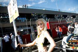 Grid girl of Tom Blomqvist (GBR) BMW Team RBM, BMW M4 DTM. 21.05.2016, DTM Round 2, Spielberg, Aust