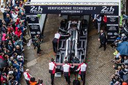 #1 Porsche Team Porsche 919 Hybrid enters scrutineering