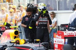 Sergio Pérez, Sahara Force India F1 ien parc ferme