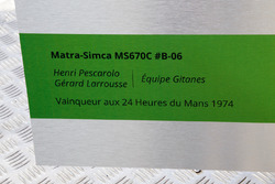 Motorsport.com ilustrador técnico Giorgio Piola ofrecen su diseño de 1974 MS670C Matra-Simca a Henri Pescarolo