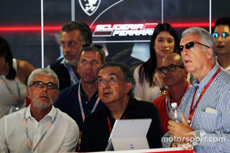 Sergio Marchionne, Ferrari Başkanı ve Fiat Chrysler Automobiles CEO'su ve Piero Ferrari, Ferrari Başkan Yardımcısı
