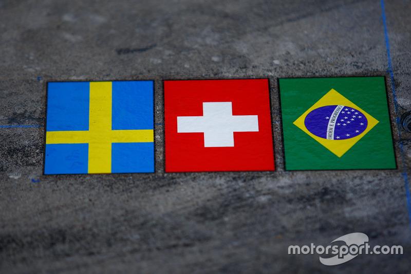 Sauber, bandiere nazionali