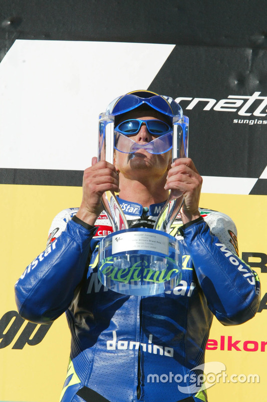 Podium: ganador, Sete Gibernau, Telefónica Movistar Honda