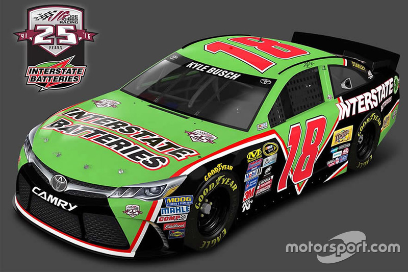 Throwback-Design von Kyle Busch, Joe Gibbs Racing, Toyota