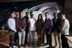 Lewis Hamilton, Mercedes AMG F1 bei der Bose F1 Garage Experience