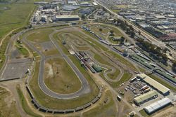 Une vue aérienne du Killarney International Raceway