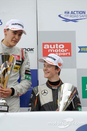 Podium: George Russell, HitechGP Dallara F312 – Mercedes-Benz; Callum Ilott, Van Amersfoort Racing D