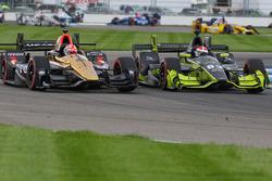 James Hinchcliffe, Schmidt Peterson Motorsports Honda, Charlie Kimball, Chip Ganassi Racing Chevrolet