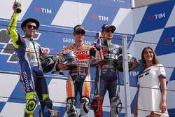 Podium: segundo, Valentino Rossi, Yamaha Factory Racing, ganador, Dani Pedrosa, Repsol Honda Team, t