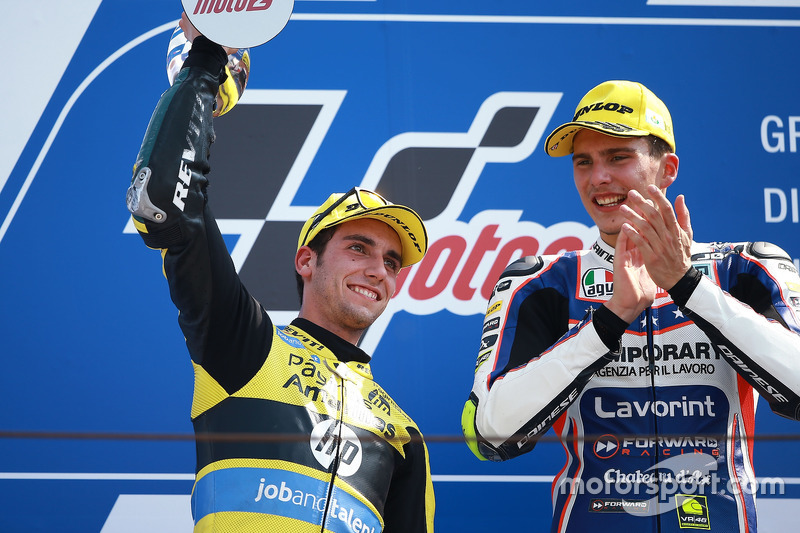 Sieger Lorenzo Baldassarri, Forward Racing; 2. Alex Rins, Paginas Amarillas HP 40,