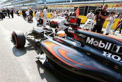 Fernando Alonso, McLaren MP4-31 on the grid