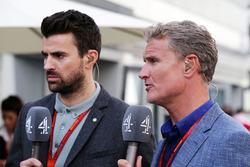Steve Jones. Channel 4 F1 Presentador y David Coulthard, Red Bull Racing y Scuderia Toro Advisor / Channel 4 F1 Comentarista