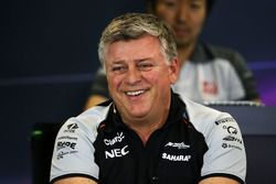Otmar Szafnauer, Sahara Force India F1 Chief Operating Officer in the press conference