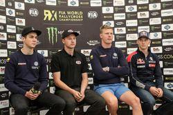 Anton Marklund, Volkswagen Motorsport, Kevin Eriksson, Olsbergs MSE, Johan Kristoffersson, Volkswagen Team Sweden, Timmy Hansen, Team Peugeot Hansen
