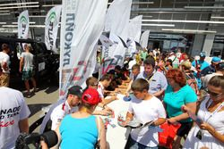 Autograph session with all drivers