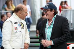 Hans-Joachim Stuck et Michael Madsen lors de la course des légendes de BMW M1 Procar