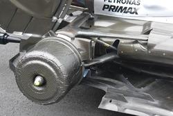 Les freins avant de la Mercedes AMG F1 W07 Hybrid
